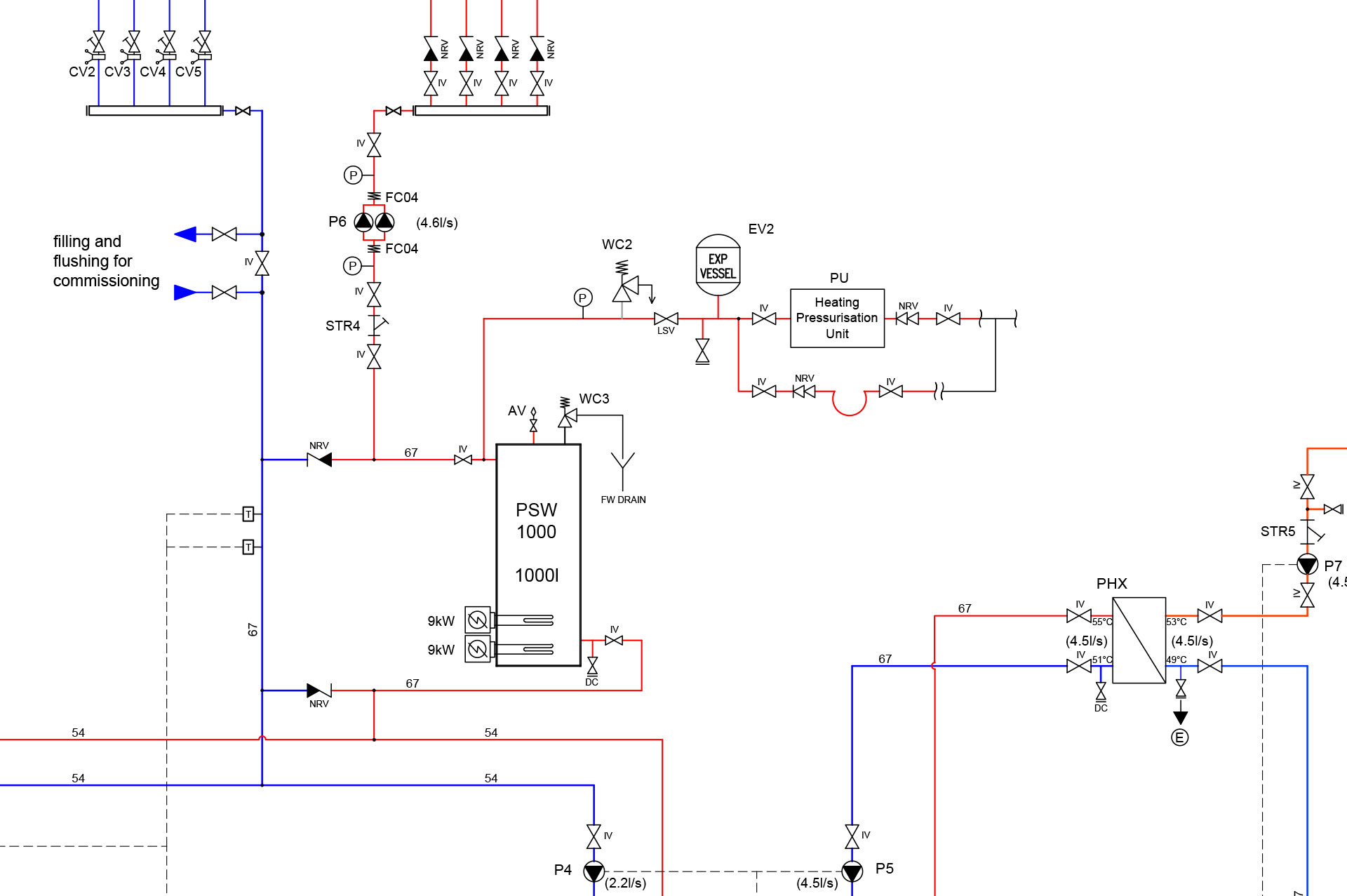 mechanical-schematic-for-large-scale-ground-source-heat-pump-installation